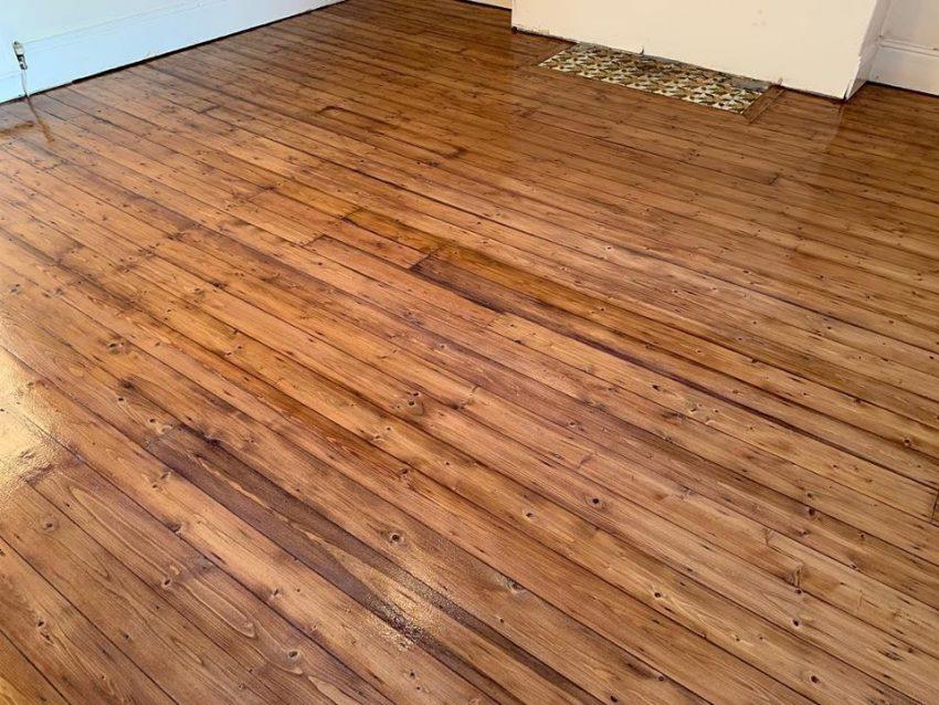 Bedroom Pine Floorboards in Darlington