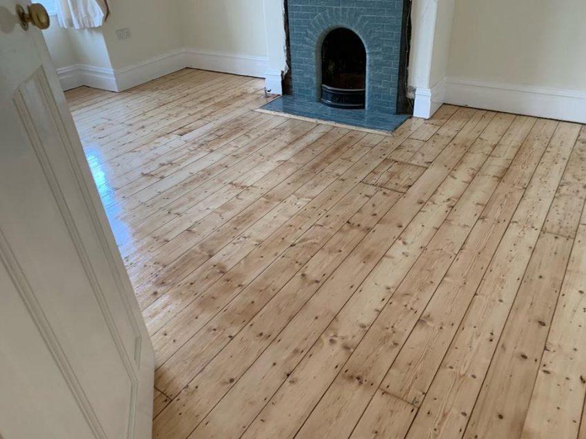 Pine Floorboard Restoration in Darlington