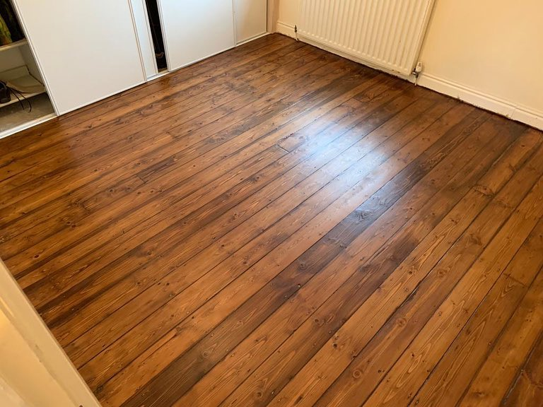 Pine Floorboard Restoration in Thornaby