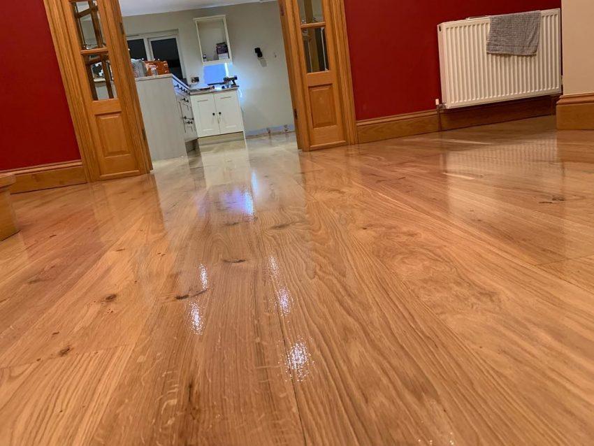 Solid Oak Floor Restoration in Hutton Rudby