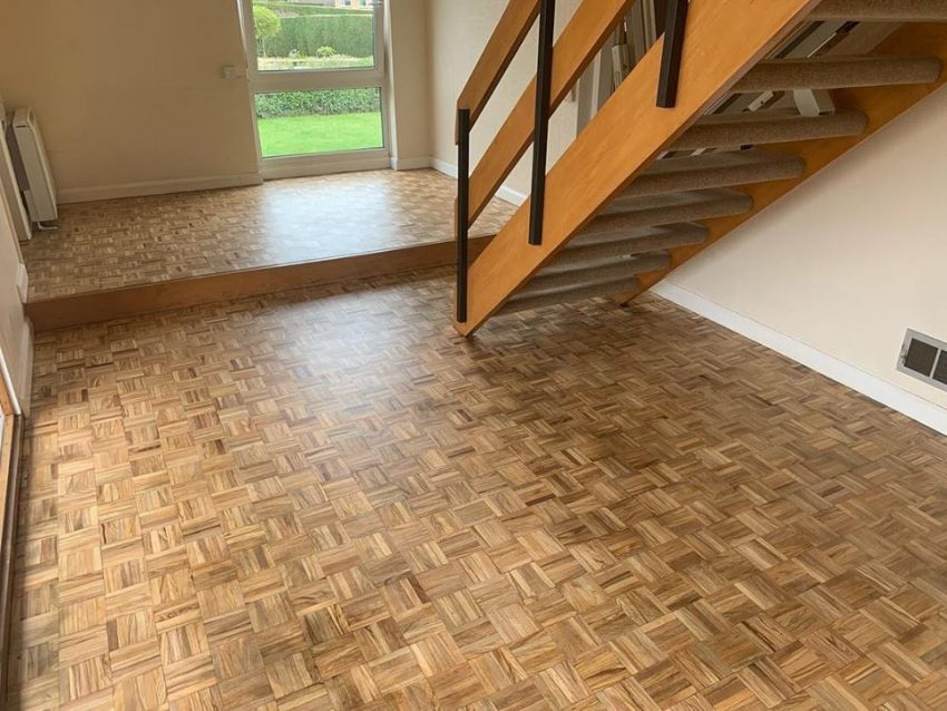 Mosaic Parquet Floor Restoration in Thornton-le-Beans