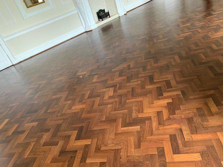 Woof Floor Restoration in Walworth Castle Hotel