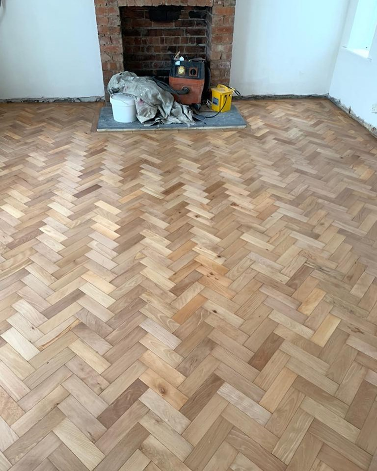 Reclaimed Beech Parquet in Leeds