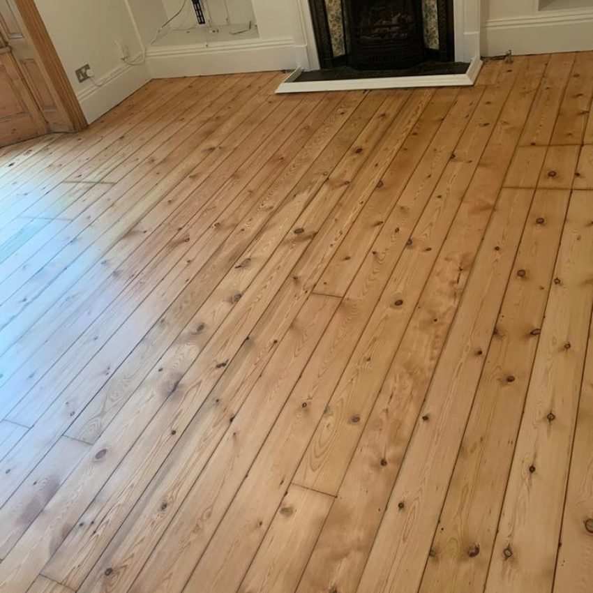Pine Floorboard Restoration in Darlington