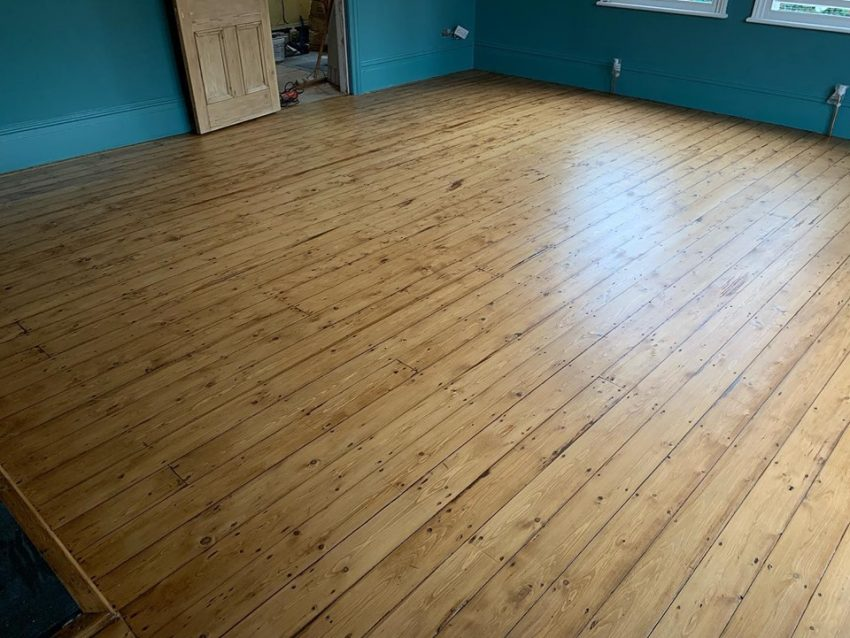 Pine Floorboards Restored in Darlington