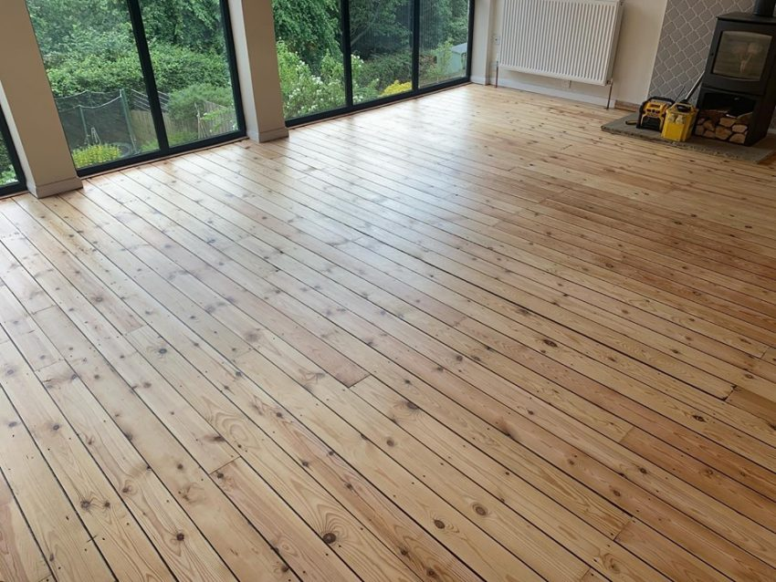 Pine Floorboard Restoration in Richmond