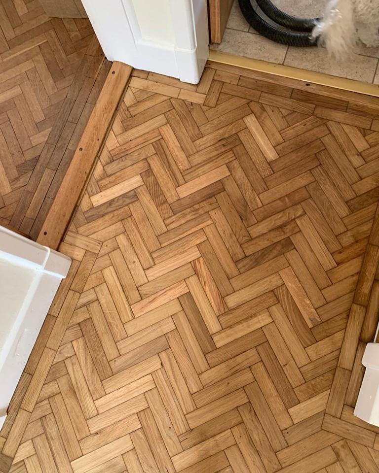 Oak Parquet Floor Restoration in Darlington