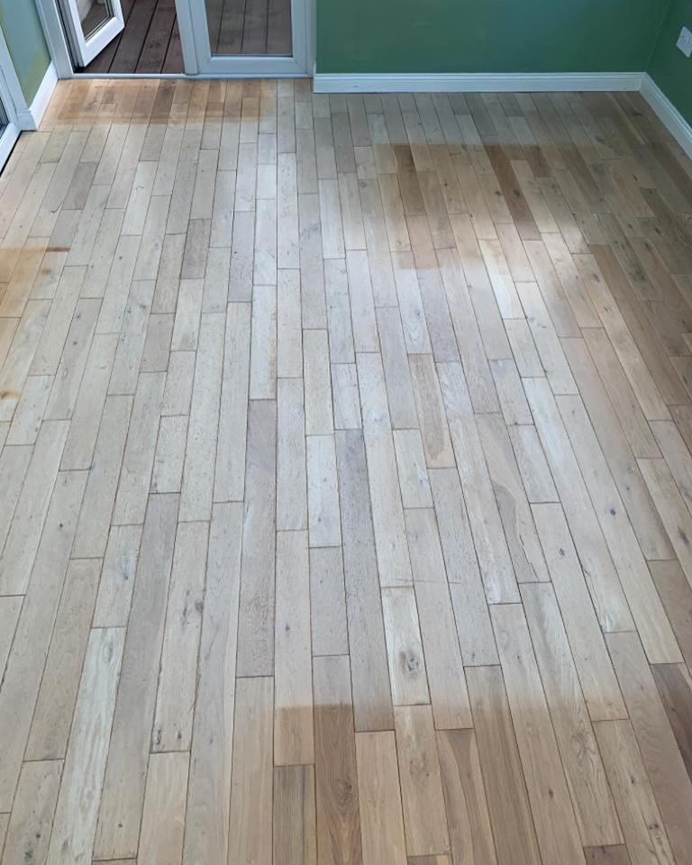 Oak Floor Restored in Hartlepool